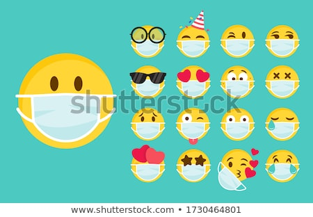 Masks Smiling and Crying, Feeling Icons Vector Stock photo © robuart