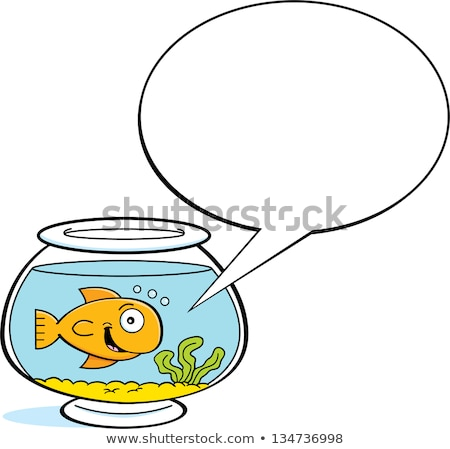 Cartoon goldfish with a caption balloon Stock photo © bennerdesign