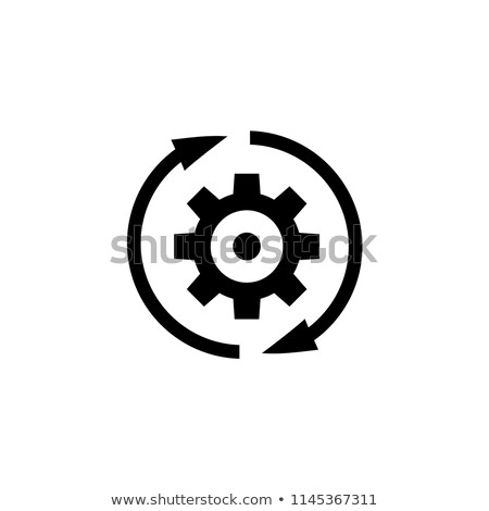 gears background with rotating arrow direction Stock photo © SArts
