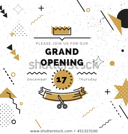 white grand opening banner with golden crown Stock photo © SArts
