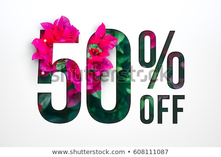 Special Offer 50 Percent Off Price Cut Banner Stock photo © robuart