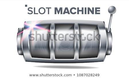 Nagy győzelem játékautomata szerencsés kaszinó játszik Stock fotó © robuart
