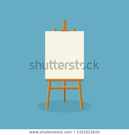 wooden easel for painting and drawing with a blank sheet of pape Stock photo © konturvid