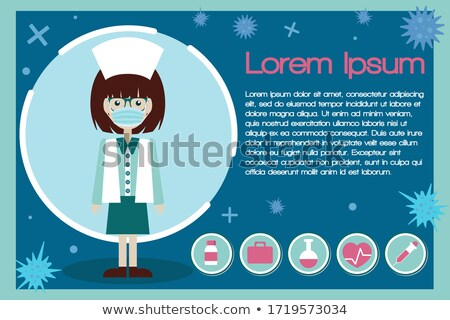 heart pills flat icon pharmacy and medicine vector illustration stock photo © imaagio