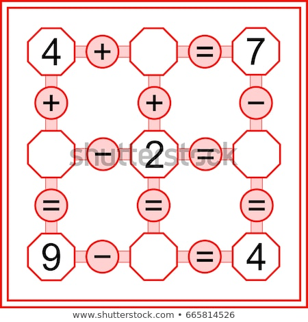 maths calculation educational worksheet for school kids Stock photo © izakowski