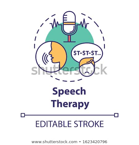 Speech therapy concept vector illustration Stock photo © RAStudio