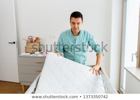 Vader matras home vaderschap Stockfoto © dolgachov