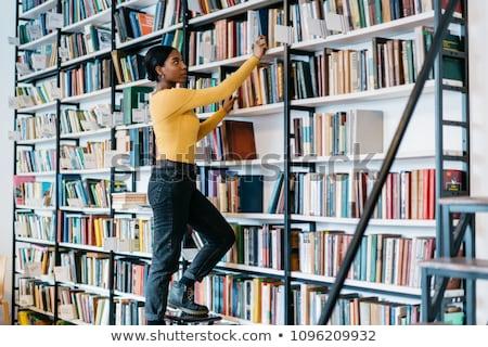 Donna libro bookstore donne felice Foto d'archivio © HighwayStarz