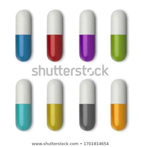 セット 医療 錠剤 薬 孤立した ストックフォト © Valeo5