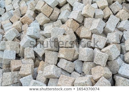 石 · 草 · ビッグ · グレー · 建設 - ストックフォト © andreykr