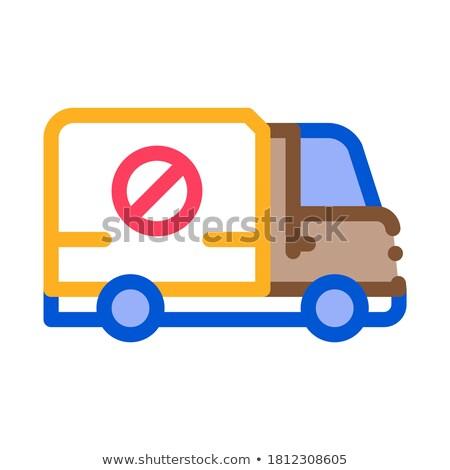 Matar caminhão ícone vetor ilustração Foto stock © pikepicture