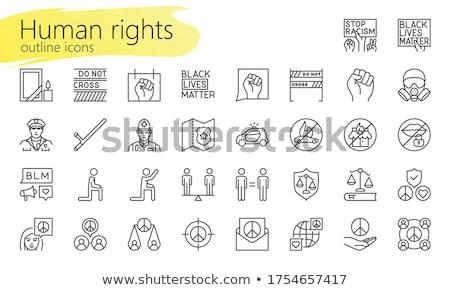 Polizei Symbol Gliederung Illustration Vektor Zeichen Stock foto © pikepicture