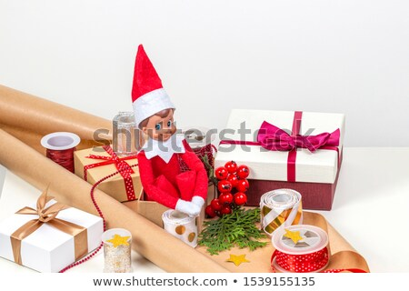 Christmas Holiday, Elves and Gift Boxes or Toys Stock photo © robuart