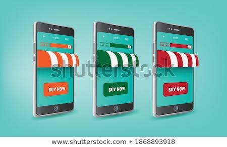 Vektor szalag közösségi média hálózat alkalmazás telefon Stock fotó © karetniy