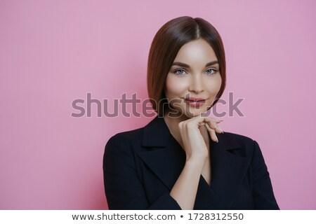 Foto atraente bem empresária elegante preto Foto stock © vkstudio