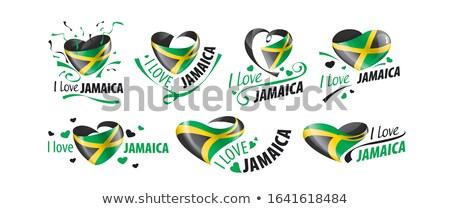 Bayrak Jamaika biçim kalp sevmek Stok fotoğraf © butenkow