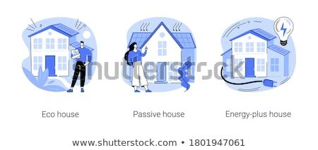 家 抽象的な 建物 低い エネルギー 受動 ストックフォト © RAStudio