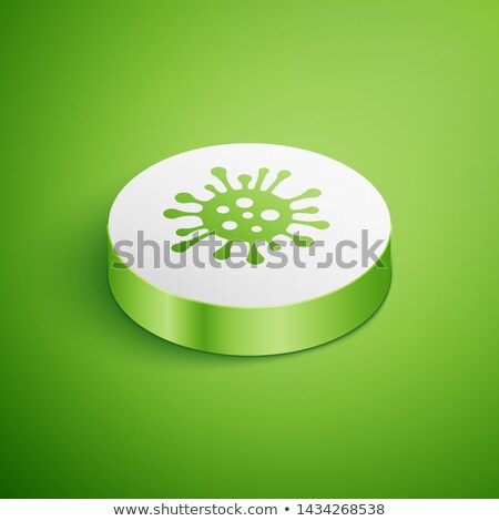 Microscopic Bacterium Germ isometric icon vector illustration Stock photo © pikepicture