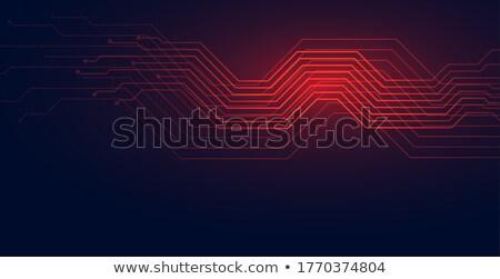 áramkör vonalak technológia diagram piros árnyék Stock fotó © SArts