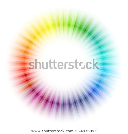 Explosie witte hot centrum krachtig Stockfoto © oneo