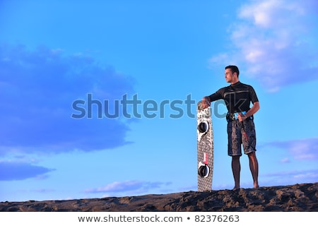 Young Adult Male Swimmer At A Beach Сток-фото © dotshock