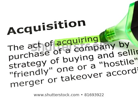 'Acquiring' highlighted, under 'Acquisition'  Stock photo © ivelin