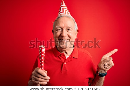 Old man at a party! stock photo © damonshuck