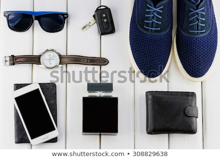 autosleutels · fles · top · champagne · sleutels · opknoping - stockfoto © morrbyte