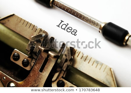 typewriter think outside the box stock photo © ivelin