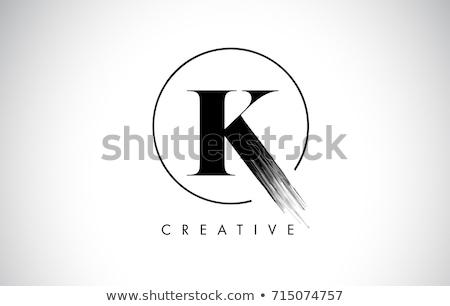 Résumé icônes lettre design orange signe Photo stock © cidepix
