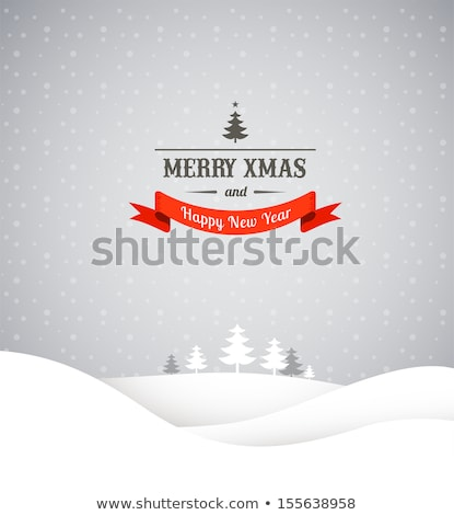christmas background with snowflakes icons stock photo © marish