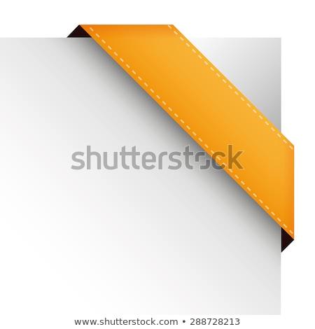 Sale orange corner ribbon Stock photo © orson