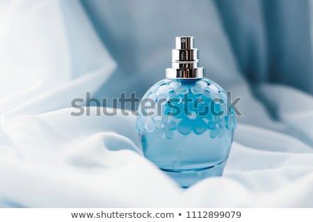 Stockfoto: Blauw · parfum · fles · geïsoleerd · witte · licht