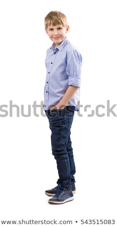 tall blond model on white Stock photo © pdimages