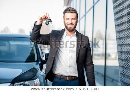 Happy male driver holding car keys Stock photo © lovleah