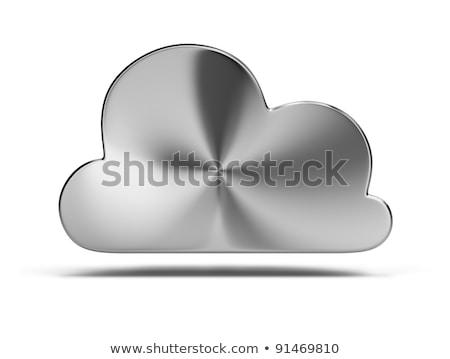 Acél felhő 3D kép izolált fehér Stock fotó © AnatolyM