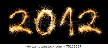 Kettő ezer tizenkettő naptár gyönyörű év Stock fotó © silent47
