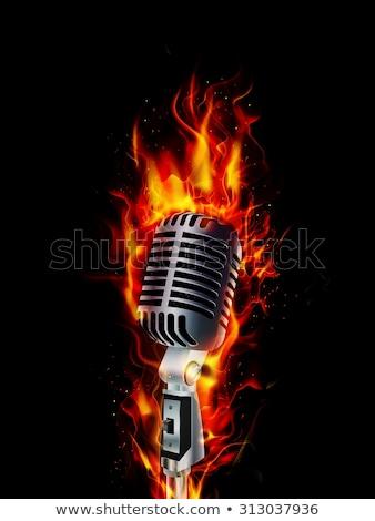 fire microphone stock photo © pkdinkar