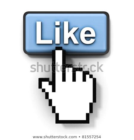 Dedo cursor como botão alto Foto stock © eyeidea
