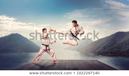 Stock photo: man self defence