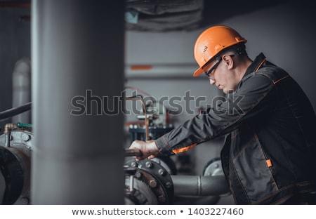 Tesisatçı ayar su teknoloji sanayi işçi Stok fotoğraf © photography33
