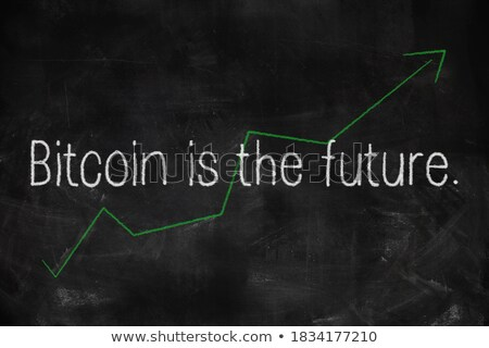 charts of profit written with chalk on a blackboard stock photo © bbbar