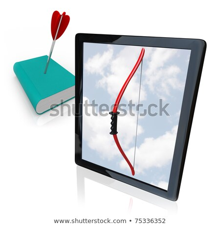 Book with Arrow in Cover - Death of Old Media Stock photo © iqoncept