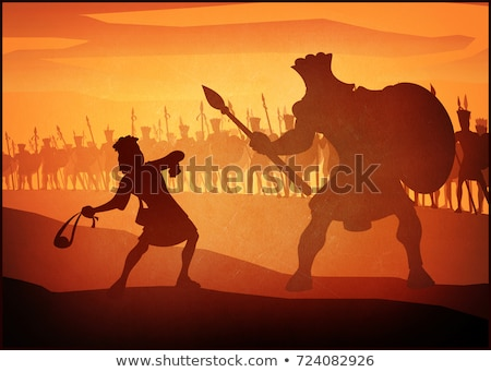 Stock photo: David and Goliath