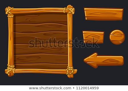 Wood Frame Buttons vector illustration lenm 1704761 Stockfresh