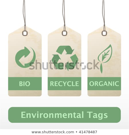 Eco recycle tag Stock photo © AnnaVolkova
