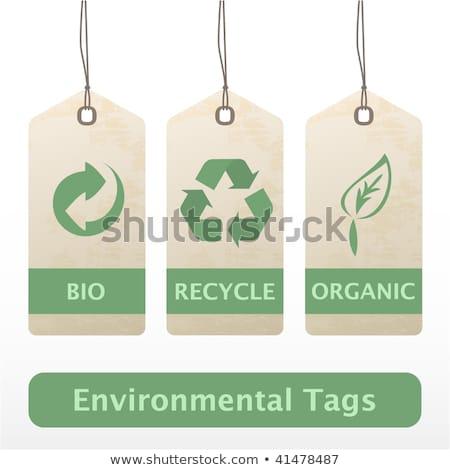 Эко · Recycle · тег · здоровья · фон · зеленый - Сток-фото © AnnaVolkova