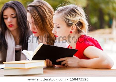 sınav · sınıf · arkadaşları · eğitim · bir · defter - stok fotoğraf © photography33