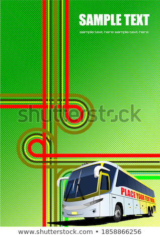 Cover for brochure or template office folder with junction and c Stock photo © leonido