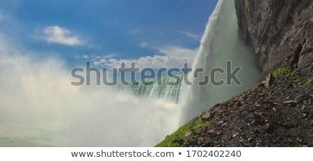 Niagara Falls beneden boot mist krachtig overweldigend Stockfoto © searagen